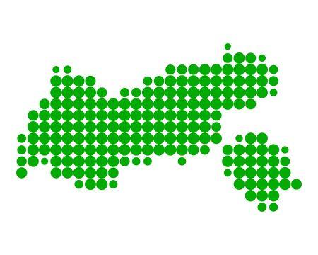 Map of Tyrol Stock Vector - 15738029