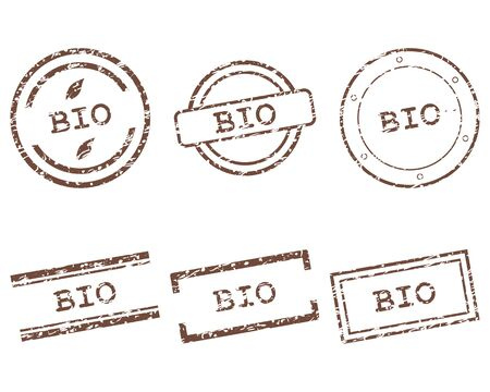 Bio stamps Stock Vector - 15775376