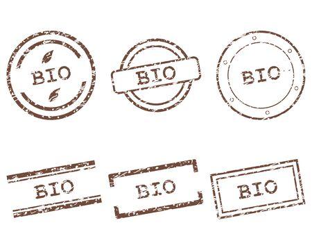 Bio stamps Stock Vector - 15775376