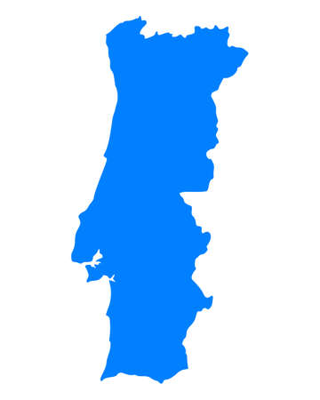 Map of Portugal Stock Vector - 16551957
