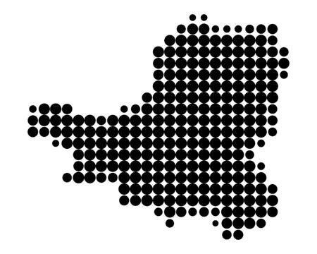 canton: Map of Schwyz Illustration