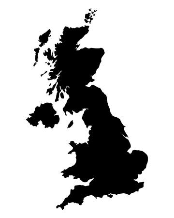 inglaterra: Mapa do Reino Unido Ilustra��o