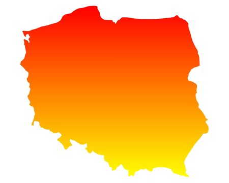 Map of Poland Stock Vector - 16646532