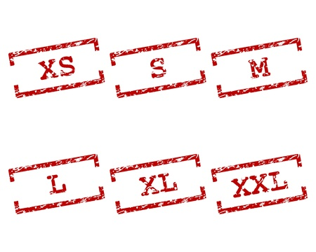 xs: Clothing size stamps