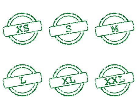 Clothing size stamps Stock Vector - 16840696