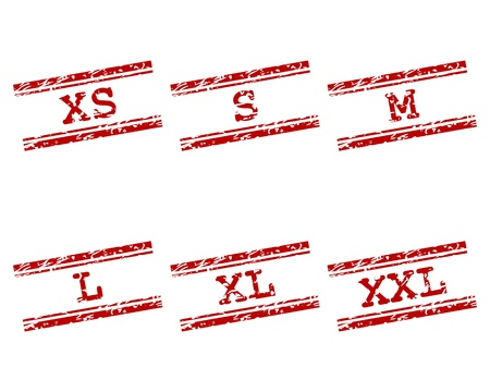 Clothing size stamps Stock Vector - 16877605