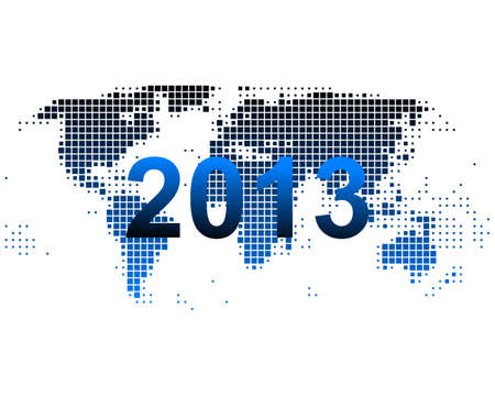 World map 2013 Vector