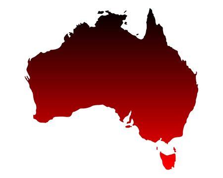 Map of Australia Stock Vector - 16953781