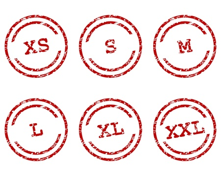 Clothing size stamps Stock Vector - 16953742