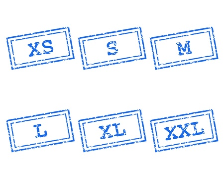 xxl icon: Clothing size stamps