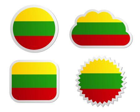 lithuania flag: Lithuania flag labels
