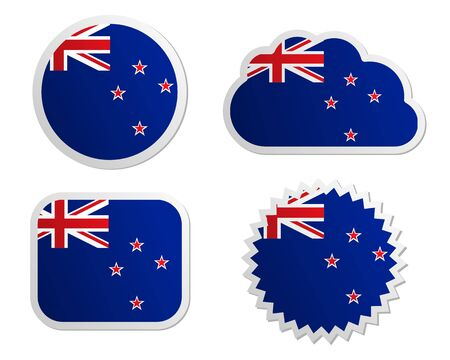 New Zealand flag labels Stock Vector - 17204002