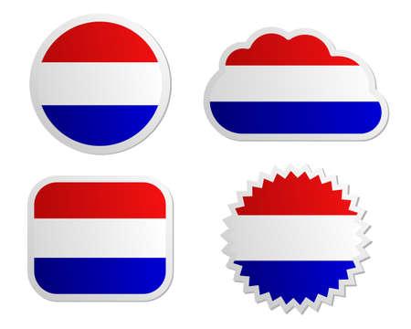 Netherlands flag labels Stock Vector - 17222122