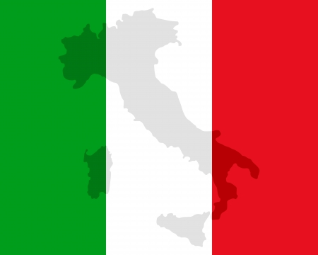Map and flag of Italy Stock Vector - 17246490