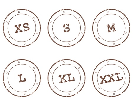 s m: Clothing size stamps