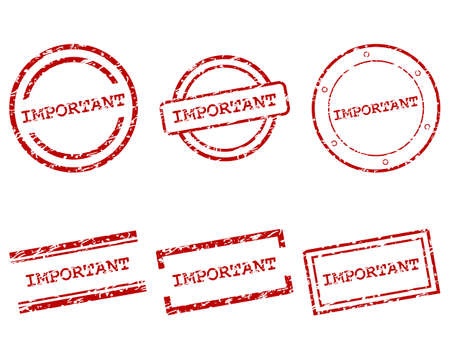 Important stamps Stock Vector - 17570725