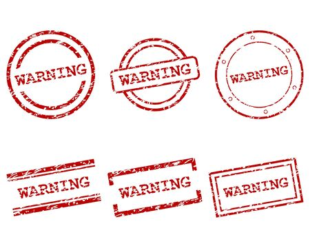 Warning stamps Stock Vector - 17570728