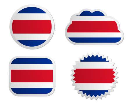 costa rica: Costa Rica flag labels
