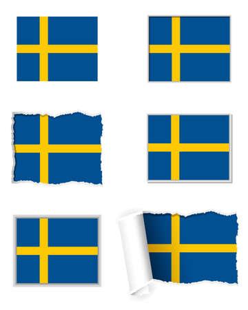 sweden flag: Svezia Bandiera set
