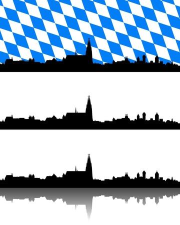 regensburg: Silhouette of Regensburg, Bavaria