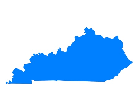 Map of Kentucky  イラスト・ベクター素材