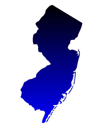 new jersey: Map of New Jersey
