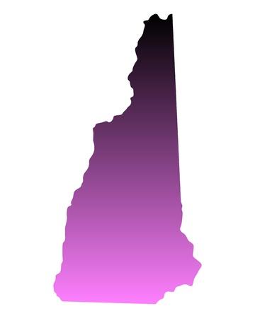 hampshire: Mapa de New Hampshire Vectores