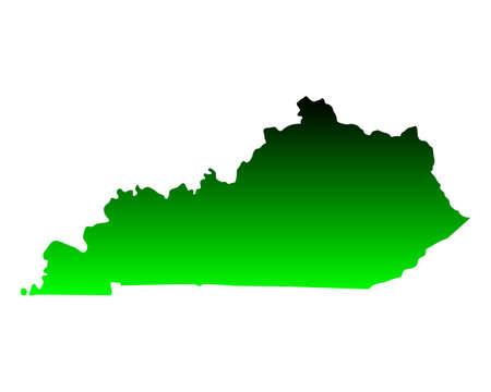 kentucky: Map of Kentucky Illustration