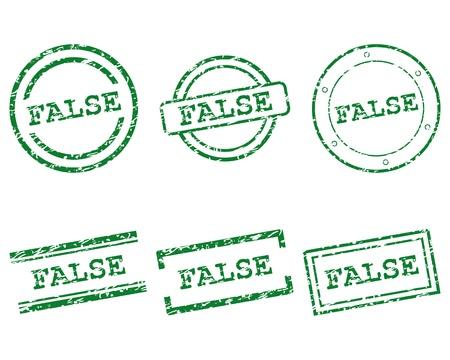 false: False stamps Illustration