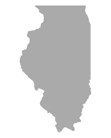 Map of Illinois Illustration