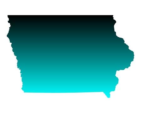 iowa: Map of Iowa