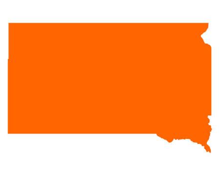 south dakota: Mappa di South Dakota Vettoriali