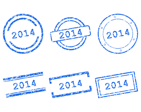 2014 stamps Vector