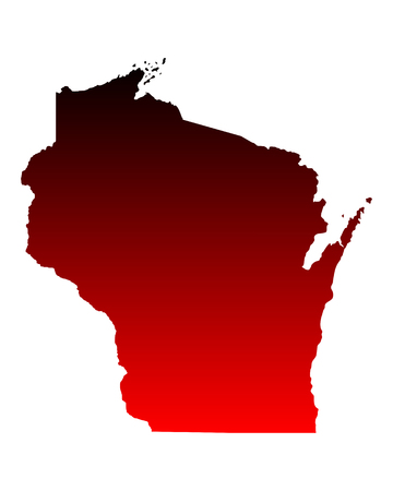 ウィスコンシン州の地図