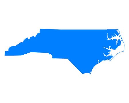 Map of North Carolina  イラスト・ベクター素材