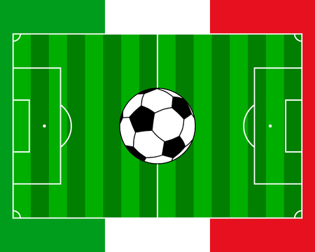 Soccerfield Italy Stock Illustratie