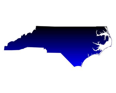 carolina: Map of North Carolina Illustration