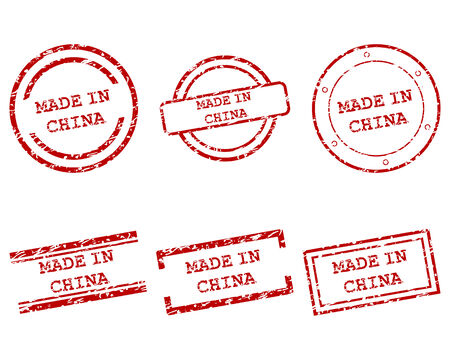 Made in China stamps Vector