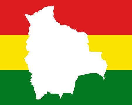 mapa de bolivia: Mapa y bandera de Bolivia
