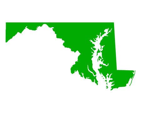 maryland: Map of Maryland