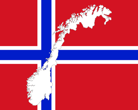 Map And Flag Of Norway Royalty Free Cliparts Vectors And Stock - Norway map and flag