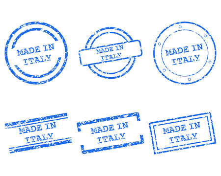 Made in Italy stamps Vector