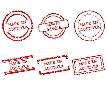 Made in Austria stamps Vector