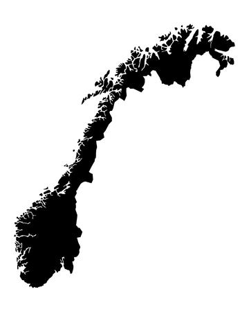 ノルウェーの地図  イラスト・ベクター素材