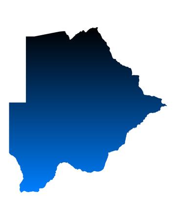 botswana: Map of Botswana Illustration