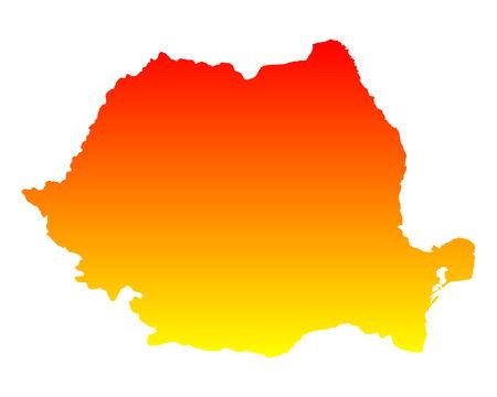 romania: Map of Romania Illustration