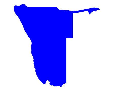 namibia: Map of Namibia Illustration