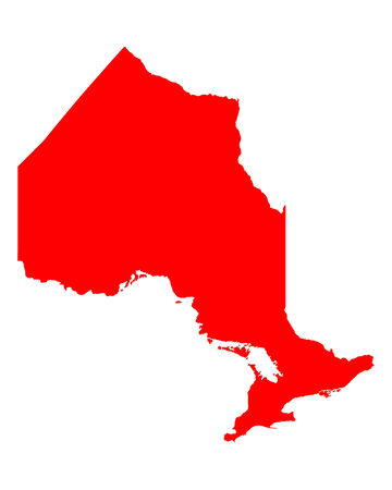 ontario: Map of Ontario Illustration