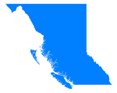 british columbia: Map of British Columbia