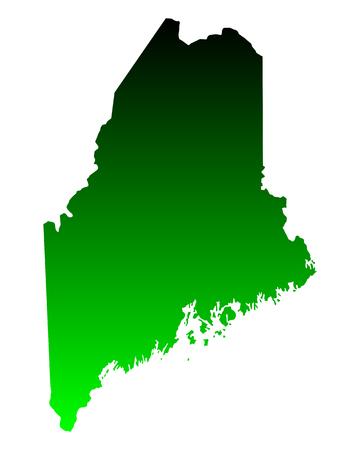 Map of Maine Illustration